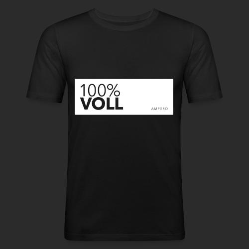 AMPERO 100%Voll - Männer Slim Fit T-Shirt