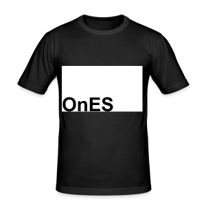 OnES Markenlogo 2 - Männer Slim Fit T-Shirt