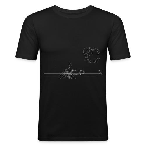 surfininthemorningwhite - Männer Slim Fit T-Shirt