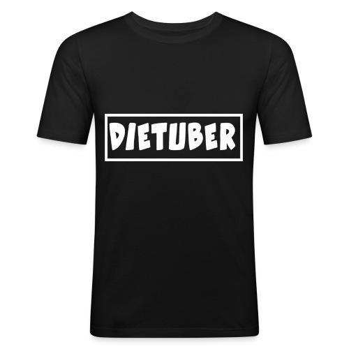 DieTuber Logo weiss - Männer Slim Fit T-Shirt