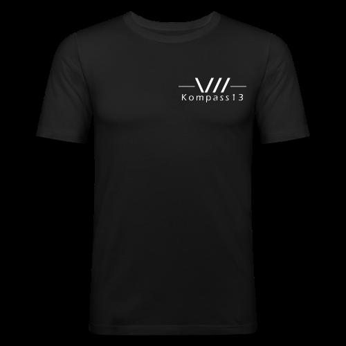 Kompass13 logo - Männer Slim Fit T-Shirt