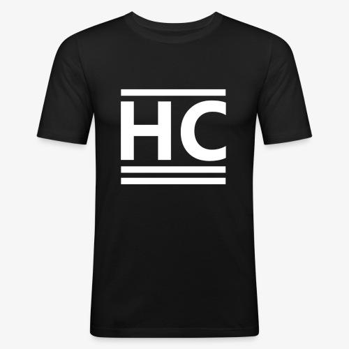 White Horizon Clothing Logo - Men's Slim Fit T-Shirt