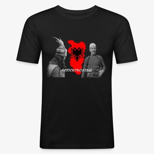 Autochthonous das Shirt muss jeder Albaner haben - Männer Slim Fit T-Shirt