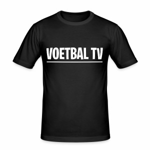 voetbal tv shirt tekst wit 2 - slim fit T-shirt