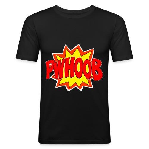 Phwoob White OutLine - Men's Slim Fit T-Shirt
