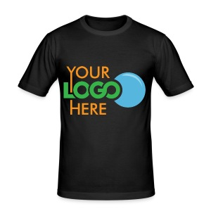 Your Logo Here - Men's Slim Fit T-Shirt