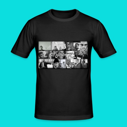 malcolm X - Men's Slim Fit T-Shirt