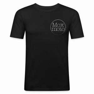 Moxi logo white - Männer Slim Fit T-Shirt
