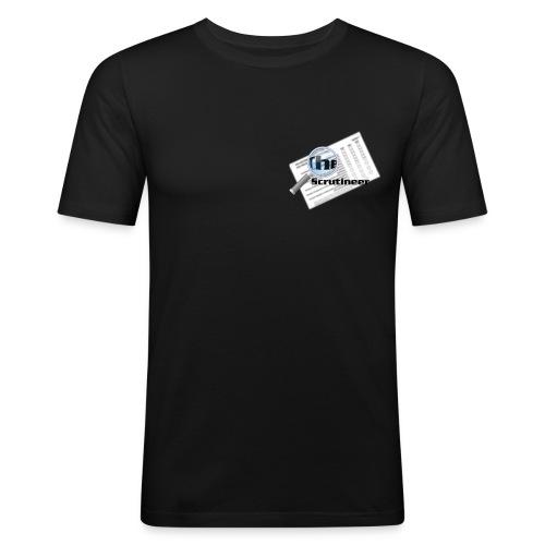 The scrutineer logo - Men's Slim Fit T-Shirt