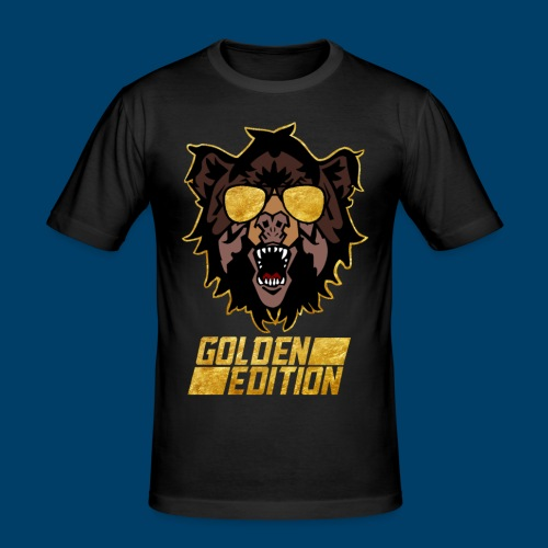 The Grizzly Beast: Golden Edition - Men's Slim Fit T-Shirt