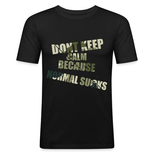Normal sucks moro - Obcisła koszulka męska