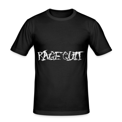 Rage Quit White Edition - Männer Slim Fit T-Shirt