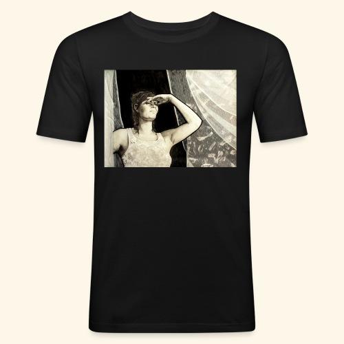 Sunny window - Miesten tyköistuva t-paita