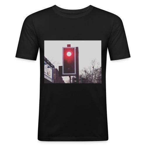 Red Traffic Light - Men's Slim Fit T-Shirt