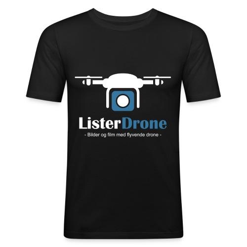 ListerDrone logo - Slim Fit T-skjorte for menn