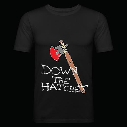 DTH Axe logo T-Shirt - Men's Slim Fit T-Shirt