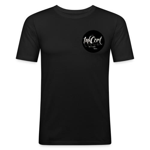 InkCert Small Logo - Men's Slim Fit T-Shirt