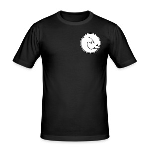 201 604 Wave Logo (Black / White) - Men's Slim Fit T-Shirt
