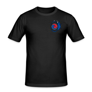 201607 Tuna Wave Logo (PADI Blue / Red PADI) - Men's Slim Fit T-Shirt