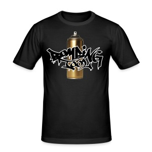 Golden Spray Can Bombing Tool - Men's Slim Fit T-Shirt