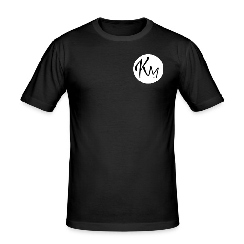 KM Logo - Männer Slim Fit T-Shirt