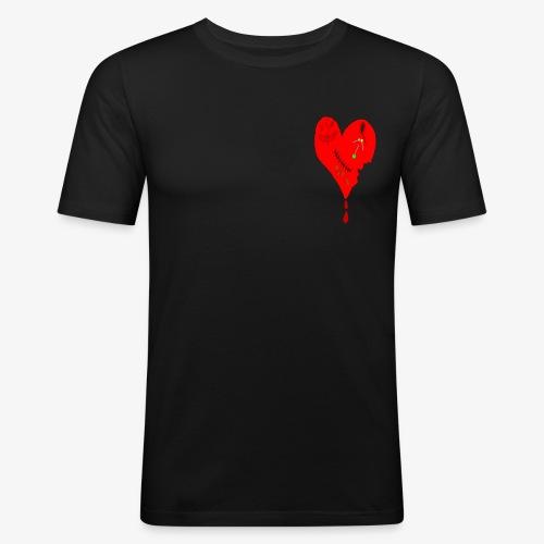 coeur bléssé - T-shirt près du corps Homme