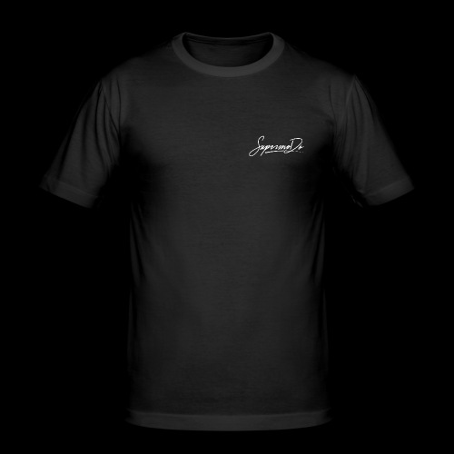 SupermoDö dezent weiß - Männer Slim Fit T-Shirt