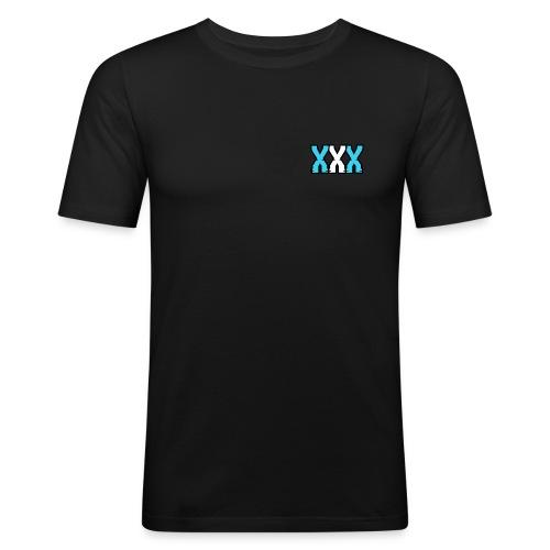 XXX (Blue + White) - Men's Slim Fit T-Shirt