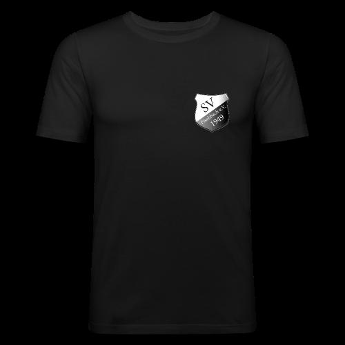 svf-Wappen-schwarz - Männer Slim Fit T-Shirt