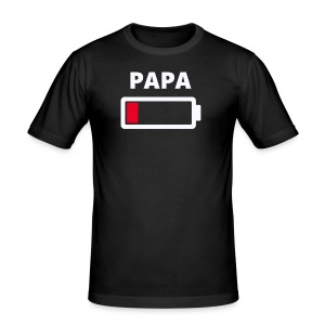 Papa - Männer Slim Fit T-Shirt