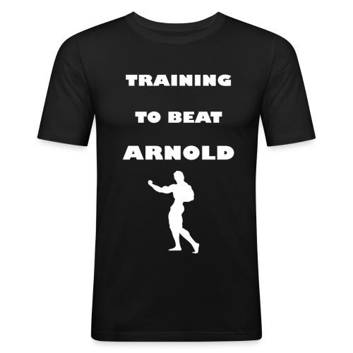 Training to beat Arnold - Camiseta ajustada hombre