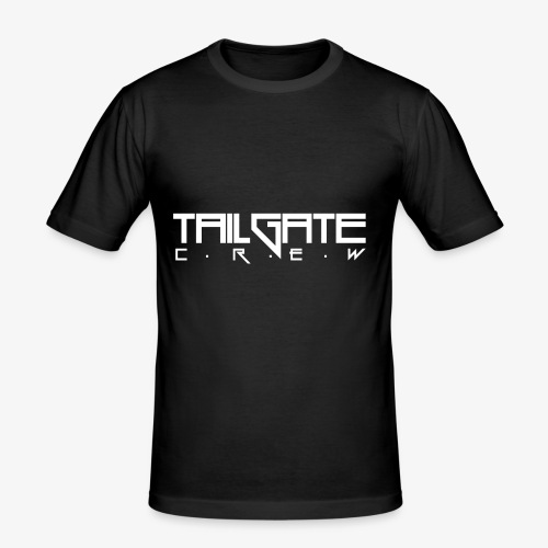 Tailgate hvit - Slim Fit T-skjorte for menn
