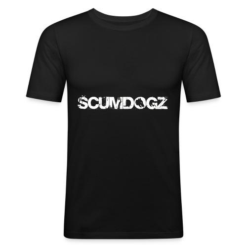 SCHRIFTZUG SCUMDOGZ - Männer Slim Fit T-Shirt