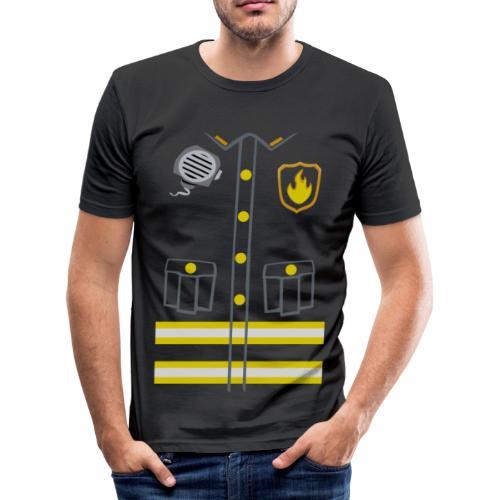 Fireman Costume - Dark edition - Men's Slim Fit T-Shirt