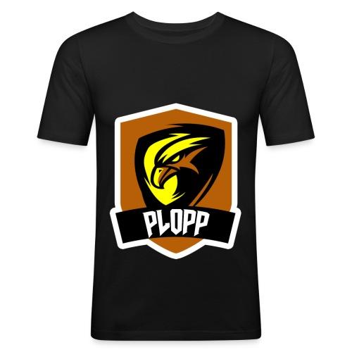 Plopp T-Shirt Emblem Svart - Slim Fit T-shirt herr
