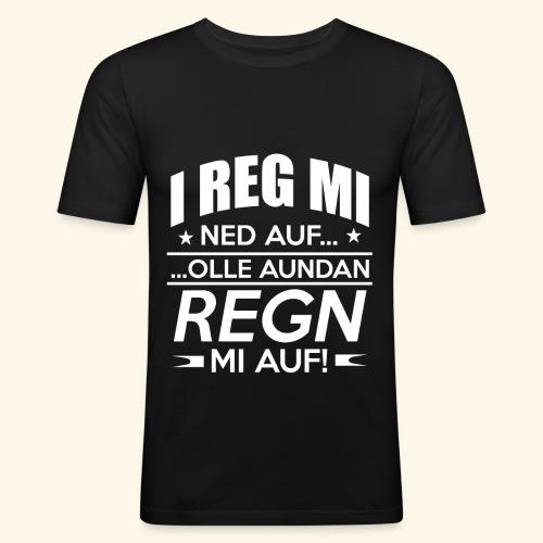 I reg mi ned auf - Männer Slim Fit T-Shirt