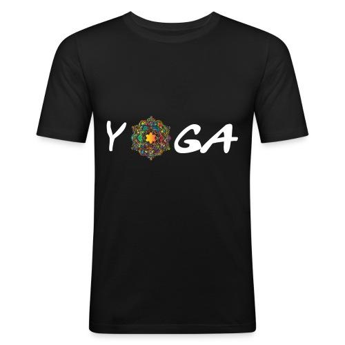 YOGA MANDALA T-SHIRT - Männer Slim Fit T-Shirt
