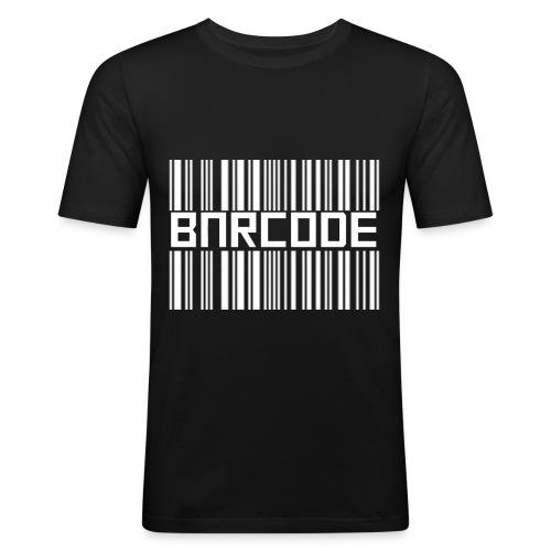 BARCODE BLACK - Men's Slim Fit T-Shirt