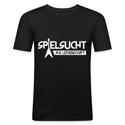 Spielsucht Gitarre - Männer Slim Fit T-Shirt