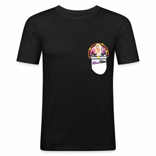 Nina Nice Pocket - Männer Slim Fit T-Shirt