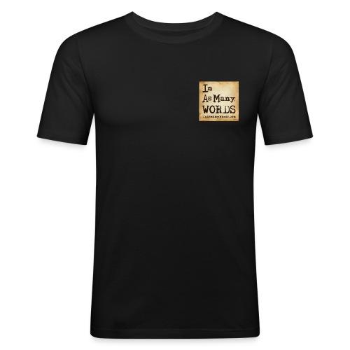 I AM Words LOGO_Brown - Men's Slim Fit T-Shirt