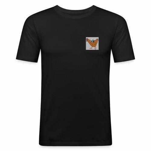 Triumvirate Chicken Logo - Men's Slim Fit T-Shirt