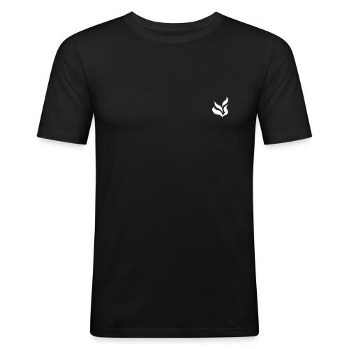Blanc - T-shirt près du corps Homme