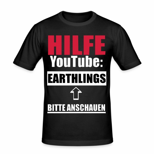 Vegan Earthlings Aktivismus - Männer Slim Fit T-Shirt