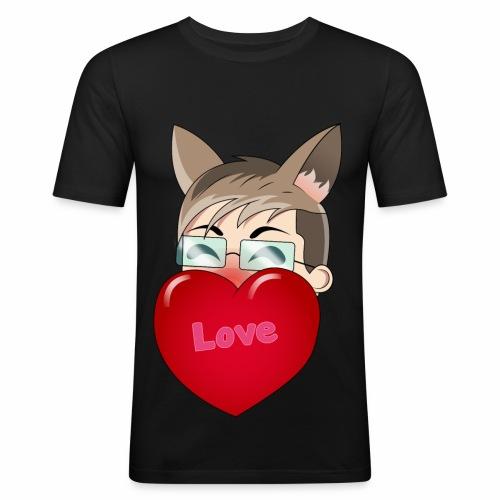 Yukiteru Herz - Männer Slim Fit T-Shirt