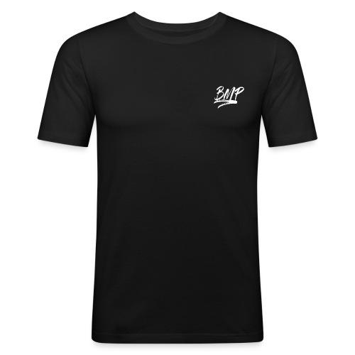 White BMP Logo - Men's Slim Fit T-Shirt