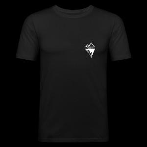 Eyesberg Tshirt Noir - Tee shirt près du corps Homme