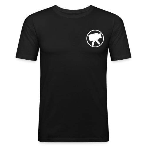 logo wit videotijd - slim fit T-shirt