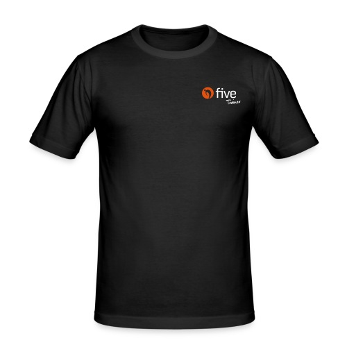 Logo five-Trainer - Männer Slim Fit T-Shirt