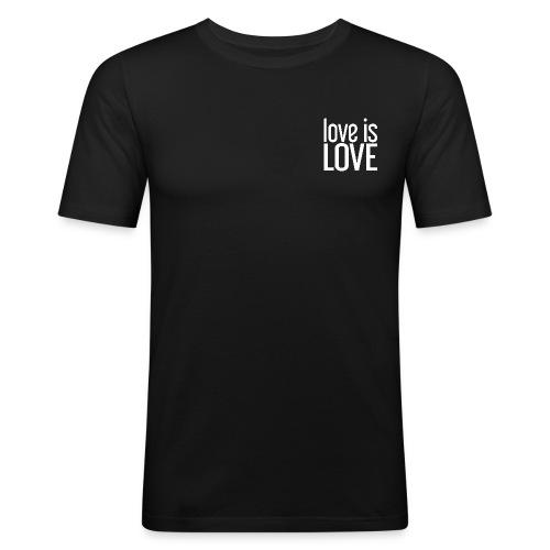 Love is Love Gay Pride t-shirt (wit klein) - slim fit T-shirt